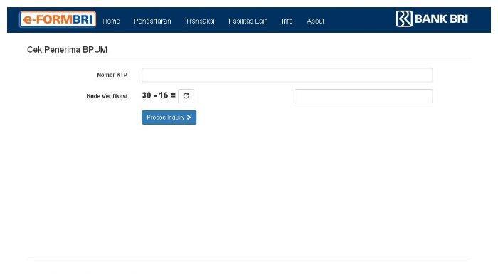 Simak Cara Cek BLT UMKM Melalui Eform.bri.co.id/bpum Berikut ini, Gunakan Nomor KTP untuk Login